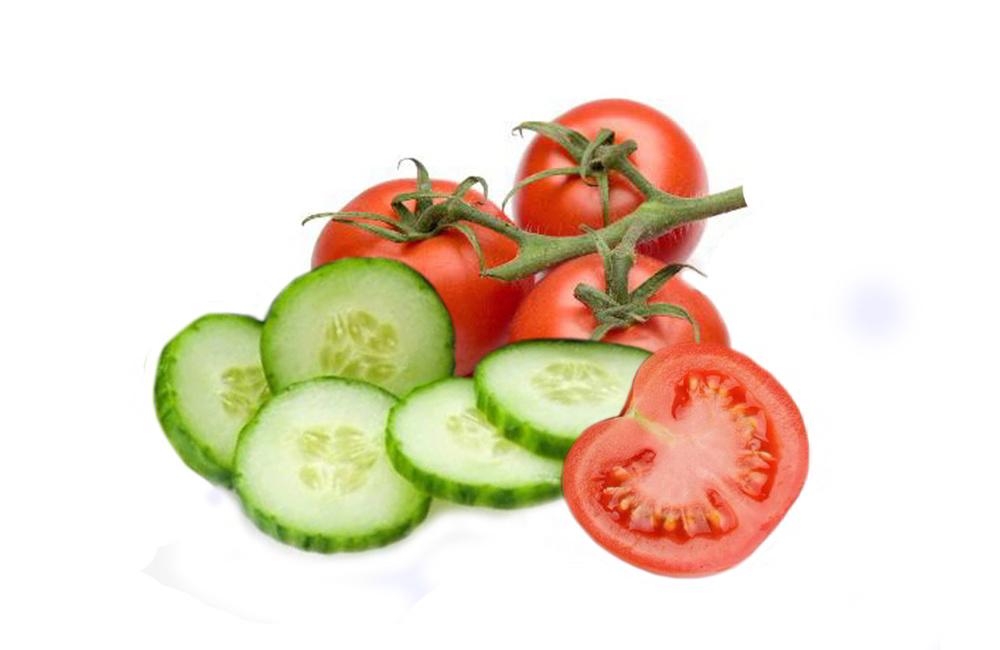 Image result for gambar timun dan tomat
