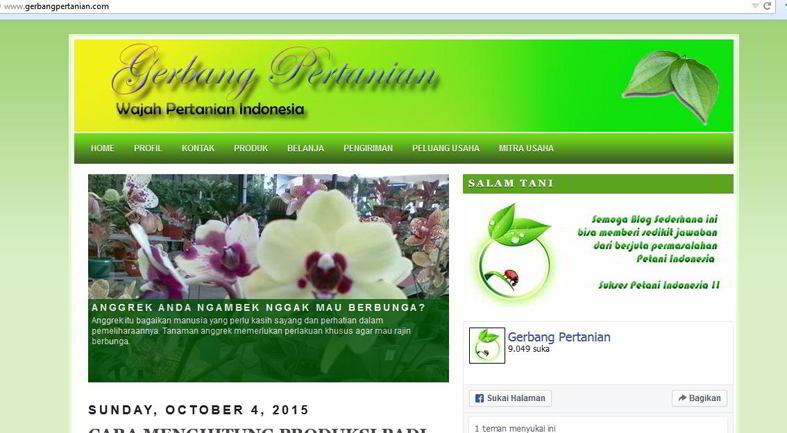 10 Situs Pertanian Terlengkap Blog Pertanian Terbaik Di Indonesia