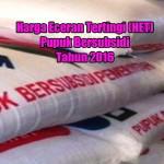 Harga Eceran Tertinggi (HET) Pupuk Bersubsidi Tahun 2016