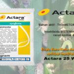 ACTARA 25 WG – Manfaat, Cara Kerja, Cara Aplikasi dan Dosis ACTARA 25 WG Per Liter Air